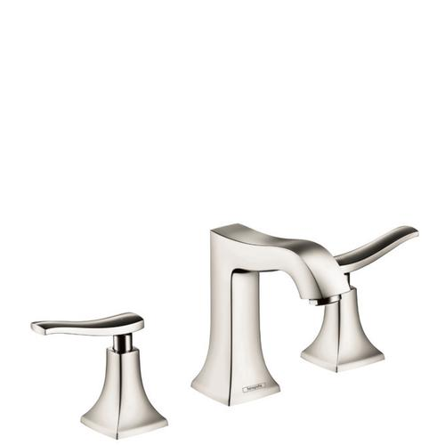 Polished Nickel Widespread Faucet 100 with Pop-Up Drain, 1.2 GPM
