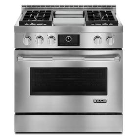 "Pro-Style® 36"" Gas Range with Griddle and MultiMode® Convection Stainless Steel"