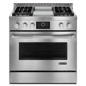 "JennAirPro-Style® 36"" Gas Range with Griddle and MultiMode® Convection Stainless Steel"
