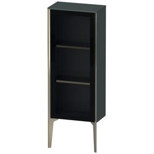 Semi-tall Cabinet With Mirror Door Floorstanding, Dolomiti Gray High Gloss (lacquer)