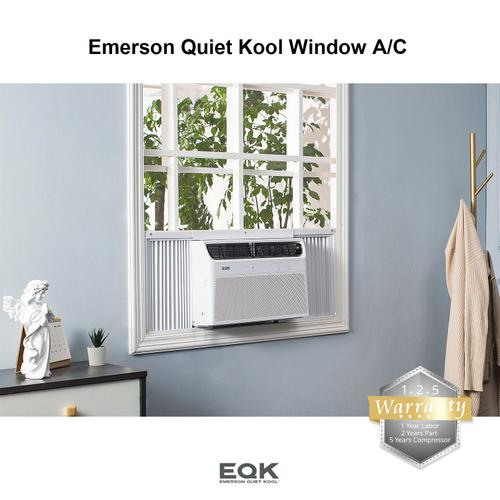 Emerson Quiet Kool - Emerson Quiet Kool Electronic Window Air Conditioner, 6,000 Btu 115V, With LED display and Remote Control, EBRC6RD1H
