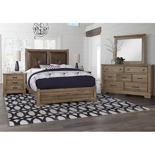 Artisan & Post Solid Wood - Queen Leather Bed with Low Profile Footboard