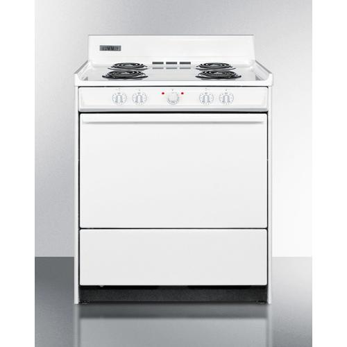 """Summit - 30"""" Wide Electric Coil Top Range"""