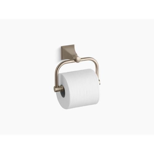 Vibrant Brushed Bronze Toilet Paper Holder