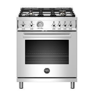 "Bertazzoni30"" Professional Series range - Gas oven - 4 brass burners - LP version"