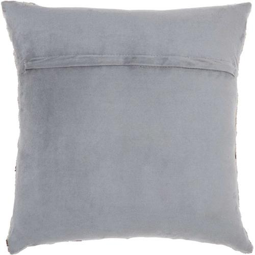 """Natural Leather Hide S4288 Grey 20"""" X 20"""" Throw Pillow"""