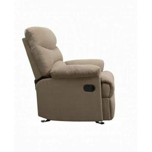 ACME Arcadia Glider Recliner - 00634 - Light Brown Microfiber