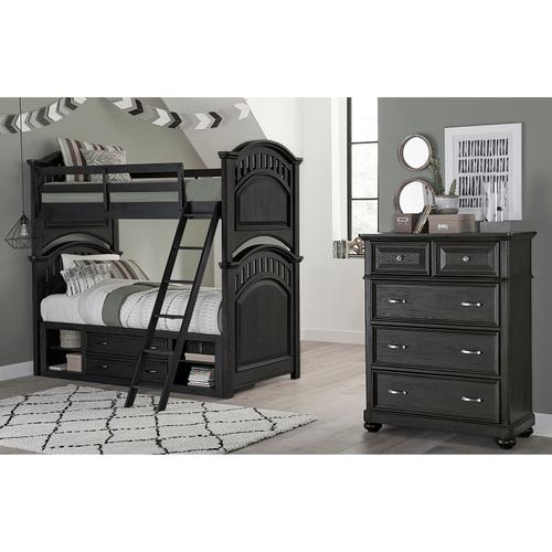 Kids Twin Underbed Storage Unit in Charcoal Brown