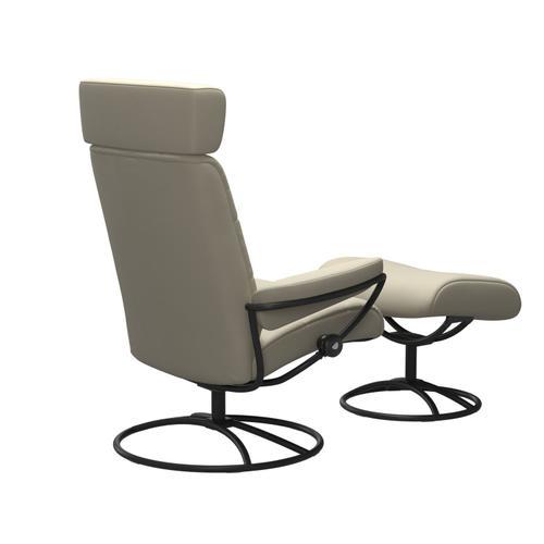 Stressless By Ekornes - Stressless® London Original Adjustable headrest Chair with Ottoman