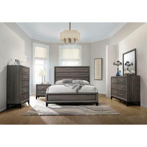 Rustic Grey Oak Five-piece Queen Bedroom Set