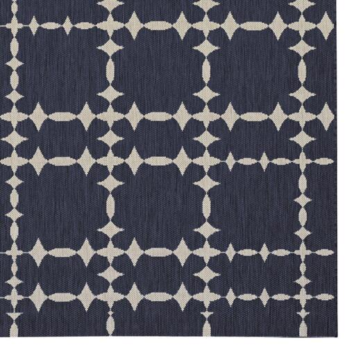 "Finesse-Tower Court Navy - Rectangle - 3'11"" x 5'6"""