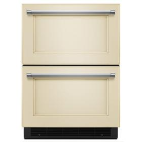 """24"""" Panel Ready Double Refrigerator Drawer Panel Ready"""