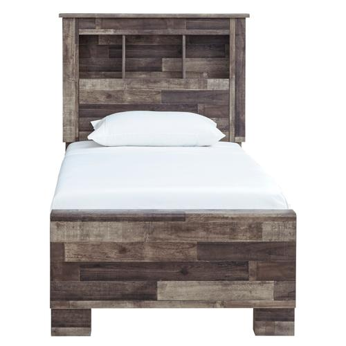 Derekson Twin Bed W/Bookcase Headboard Multi Gray