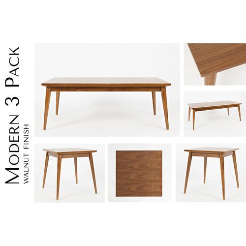 Modern 3 Pack- Walnut