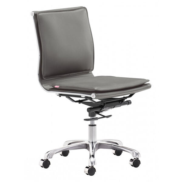 Lider Plus Armless Office Chair Gray