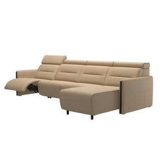 See Details - Stressless® Emily arm wood 3 seater Power left with Long Seat