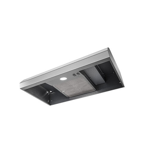 Broan® 30-Inch 4-Way Convertible Under-Cabinet Range Hood, 270 Max CFM, Stainless Steel