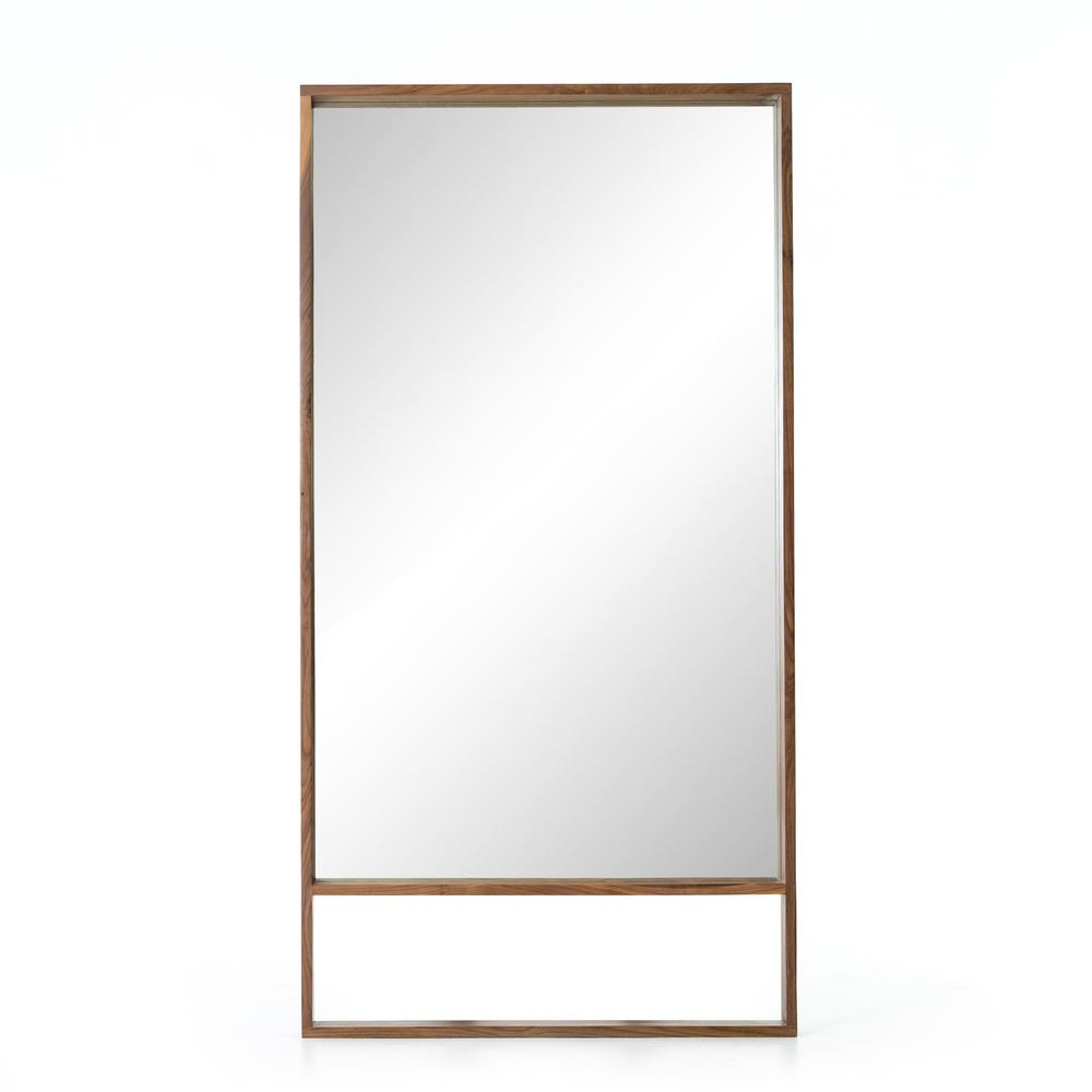 Natural Walnut Finish Luna Mirror