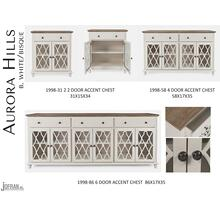 Aurora Hills 6 Door Accent Chest-b. White/bisque