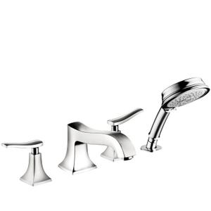 Chrome 4-Hole Roman Tub Set Trim with 1.8 GPM Handshower Product Image
