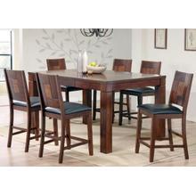 View Product - Walnut & Ash Burl Veneer Table & Barstool Pub Set