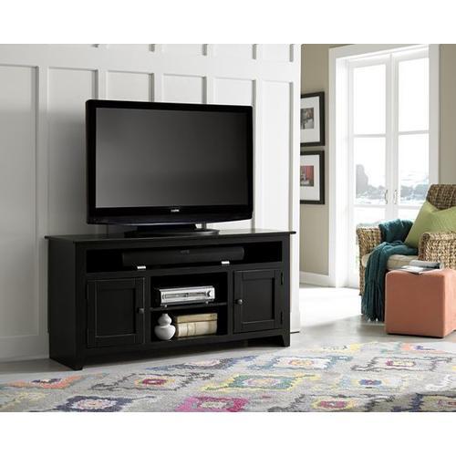 """Progressive Furniture - 58\"""" Black Entertainment Console - Pine, Dark Pine and Black Finish"""