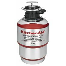 See Details - 1-Horsepower Batch Feed Food Waste Disposer - Red