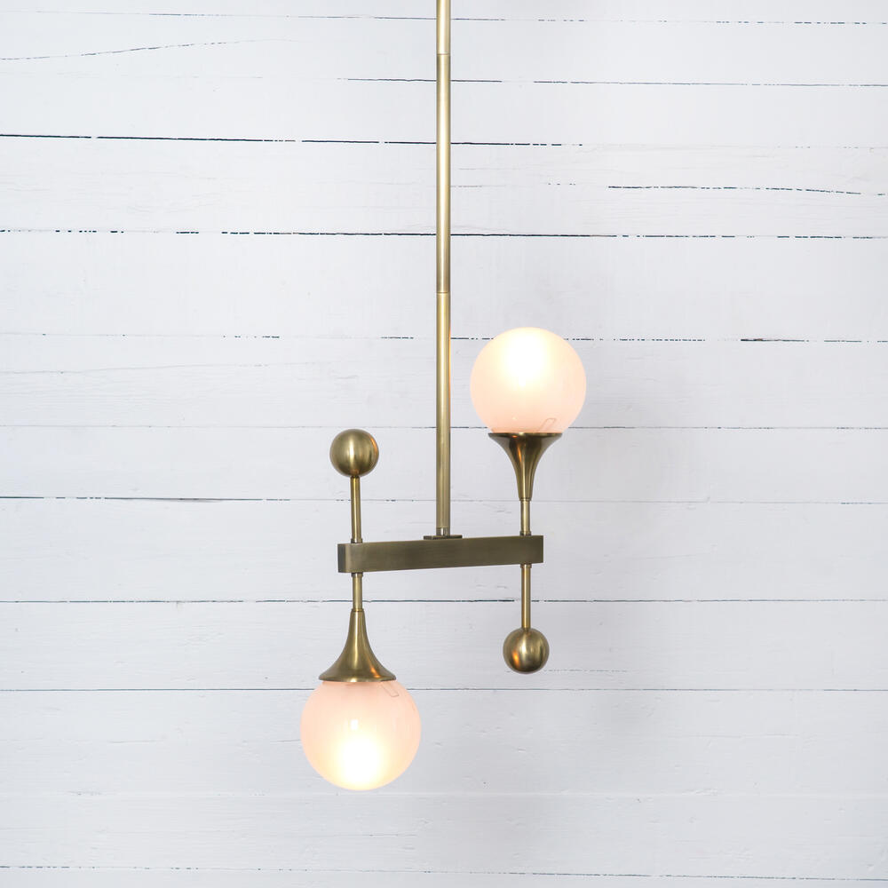 Gillie Pendant-patina Brass