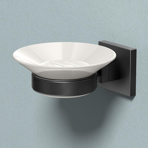 Elevate Soap Dish Holder in Matte Black