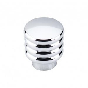 Modern Deco Knob 1 Inch - Polished Chrome