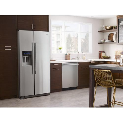 Product Image - 36-inch Wide Contemporary Handle Side-by-Side Refrigerator - 28 cu. ft.