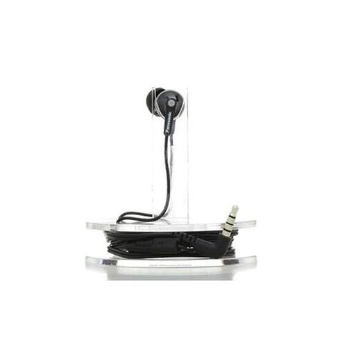 ErgoFit In-Ear Earbud Headphones with Mic + Controller - Black - RP-TCM125-K