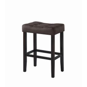 Casual Brown Upholstered Bar Stool