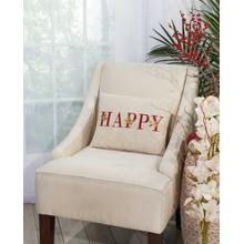 """Home for the Holiday L1609 Natural 12"""" X 16"""" Throw Pillow"""