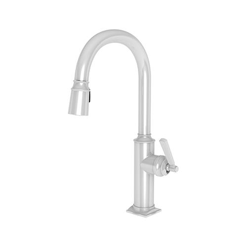 Newport Brass - White Pull-down Kitchen Faucet