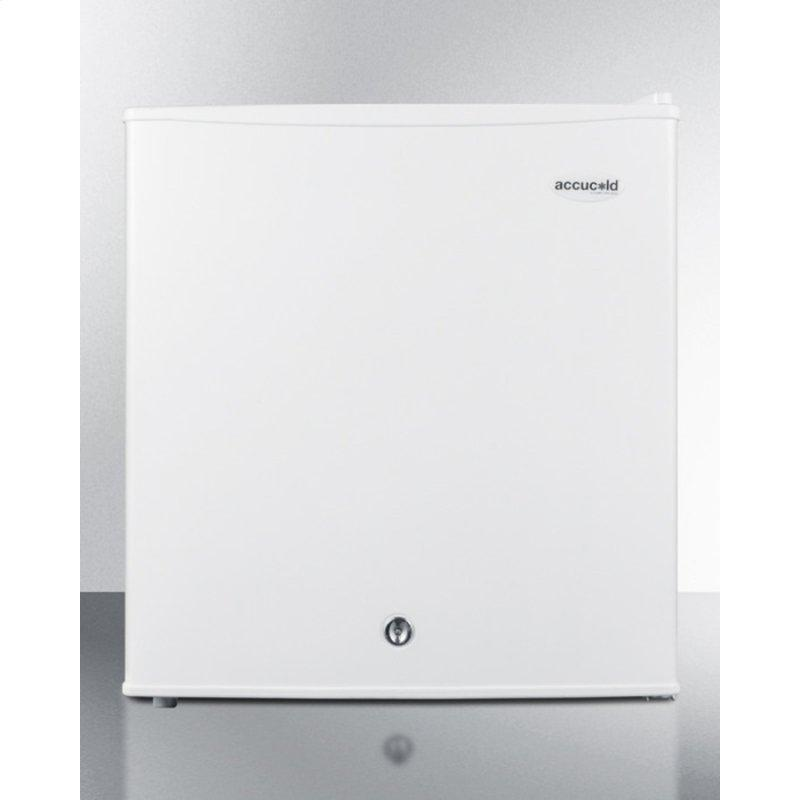 Compact Refrigerator-freezer With Front-mounted Lock for General Purpose Use; Replaces S19l