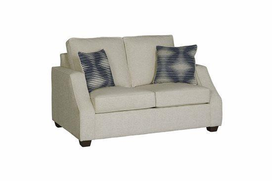 Love Seat - Shown in 105-05 Ivory Chenille Finish