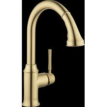Brushed Gold Optic HighArc Kitchen Faucet, 2-Spray Pull-Down, 1.75 GPM