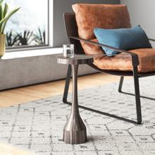 See Details - Chiseled Aluminum Graphite Martini Table