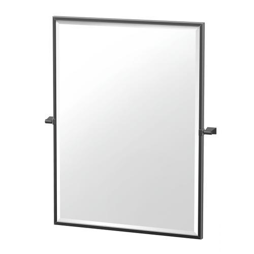 Bleu Framed Rectangle Mirror in Matte Black