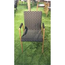 WOVEN PP & STEEL DINING CHAIR