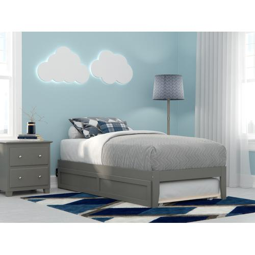 Atlantic Furniture - Colorado Twin Bed with USB Turbo Charger and Twin Trundle in Grey