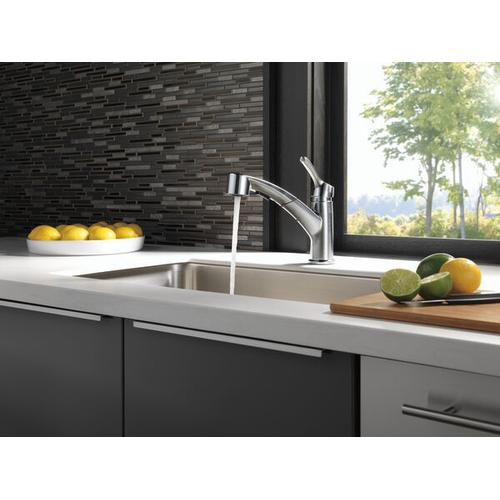 Arctic Stainless Single Handle Pull-Out Kitchen Faucet