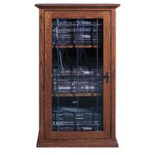 Forest Designs Mission Audio Tower with Glass Door: 25W x 45H x 21D