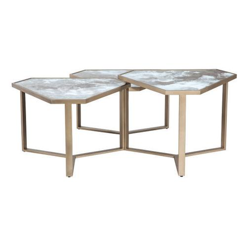 Fairfield - Impressionable Surfaces Falling Water Tier Triangle Cocktail Table