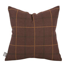 "Pillow Cover 16""x16"" Oxford Chocolate/Felt Chocolate"