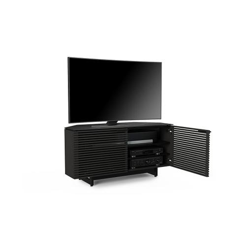 Corner Media Cabinet 8175 in Charcoal Stained Ash