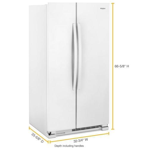 Whirlpool - 33-inch Wide Side-by-Side Refrigerator - 22 cu. ft.