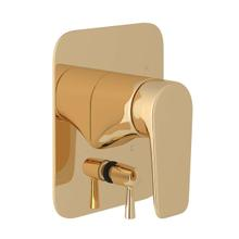 Hoxton Pressure Balance Trim with Diverter - English Gold with Metal Lever Handle