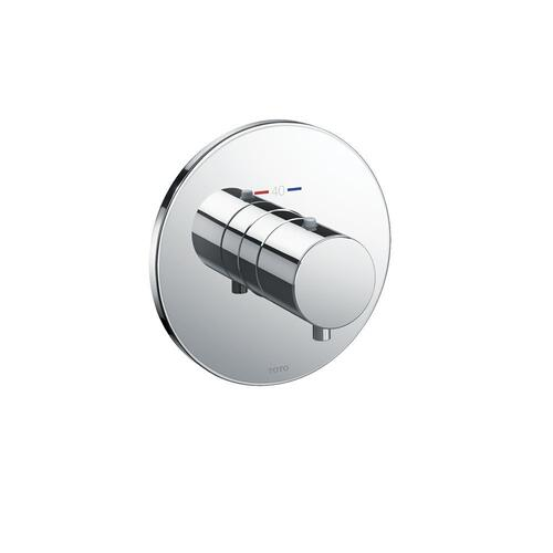 Thermostatic Mixing Valve Trim - Round - Polished Chrome Finish